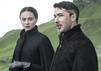"Aidan Gillen als Petyr Baelish alias Kleinfinger/Littlefinger in ""Game of Thrones"" - (l) Sophie Turner als Sansa"