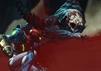 szene aus metroid dread samus aran kämpft gegen monster