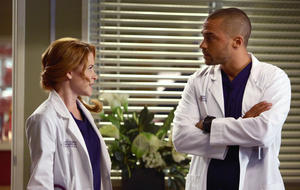 """Grey's Anatomy"": Jesse Williams als Jackson Avery & Sarah Drew als April Kepner"