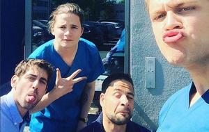 Die jungen Ärzte: Niklas, Matteo, Mikko, Tom