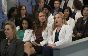 Grey's Anatomy - Staffel 14: Jo Wilson (Camilla Luddington) u Arizona Robbins (Jessica Capshaw)