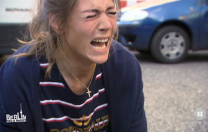 BTN: Alina weint, als Peggy Opfer eines Unfalls wird