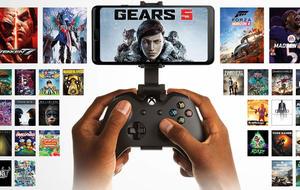 Xbox-Spiele laufen per Cloud-Gaming auf einem Smartphone, das mit einem Xbox Controller gesteuert wird.