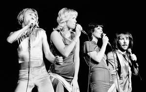 ABBA bei einem Auftritt