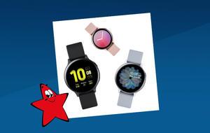 Drei Modelle der Samsung Galaxy Watch Active 2 in schwarz, silbern und roséfarben