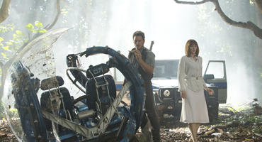"Chris Pratt und Bryce Dallas Howard in ""Jurassic World""."