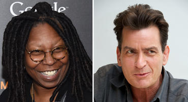 Charlie Sheen Whoopie Goldberg