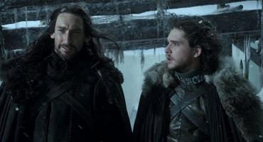 "Benjen Stark und Jon Snow bei ""Game of Thrones"""