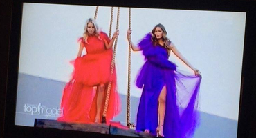 Neele und Claudia beim GNTM Shoot Out