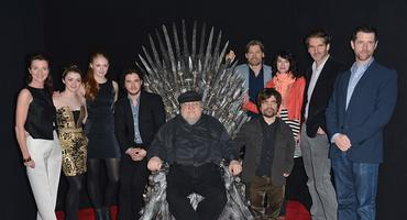 "George R. R. Martin und der ""Game of Thrones""-Cast"