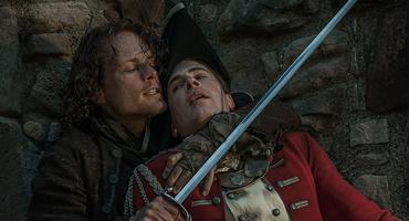 Outlander: jamie Fraser (sam heughan) und lord john william grey