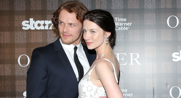 """Outlander""-Stars Sam Heughan and Caitriona Balfe"