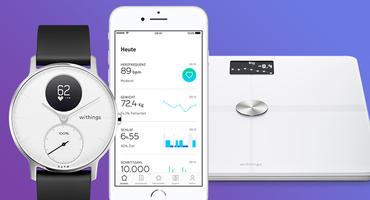 Gewinnt eine WLAN-Bodywaage und eine elegante Hybrid Smartwatch von Withings!