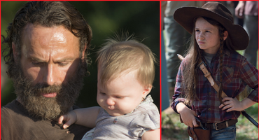 """""""The Walking Dead"""": Rick Grimes (Andew Lincoln) und Judith (Cailey Fleming)"""