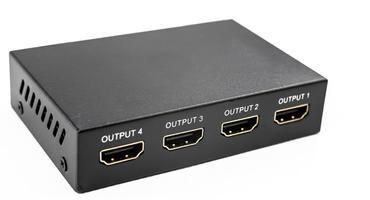 HDMI Splitter vor einem weißen Hintergrund