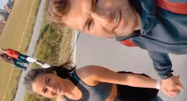 Julian Büscher und Sarah Lombardi