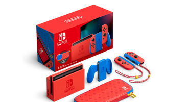 Nintendo Switch Mario Edition Rot Blau