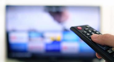 Fernbedienung mit Fernseher