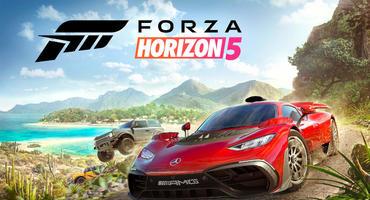 Mercedes-Sportwagen in mexikanischer Küstenlandschaft in Forza Horizon 5