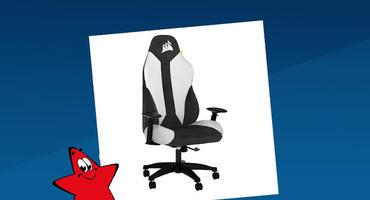 Corsair TC 70 Schwarz-weißer Schreibtischstuhl Gaming Stuhl