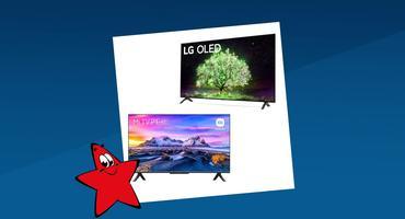 Zwei 4K-Fernseher von LG und Xiaomi