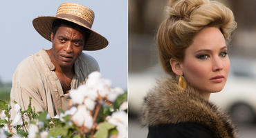 "Chiwetel Ejiofor in ""12 Years a Slave"" und Jennifer Lawrence in ""American Hustle"""