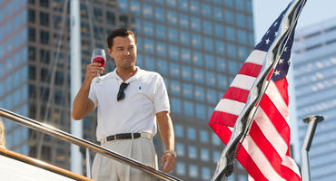 "Hollywood-Star Leonardo DiCaprio in ""The Wolf of Wall Street"""
