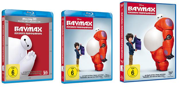 """Gewinnt mit uns DVDs und Blu-rays zu Disneys Animations-Hit """"Baymax""""!"""