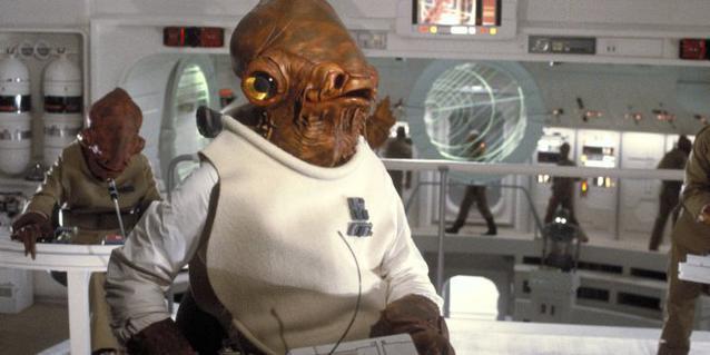 Admiral Ackbar in Star Wars VI