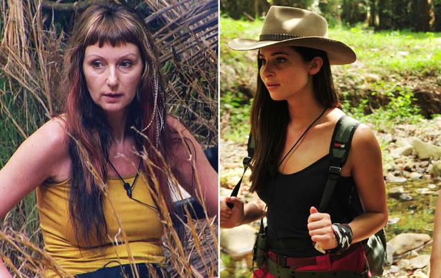 Hanka Rackwitz und Nicole Mieth in der Dschungelprüfung