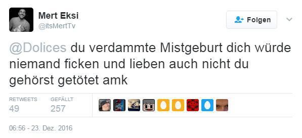 Mert Eksi: Schwulenfeindlicher Tweet