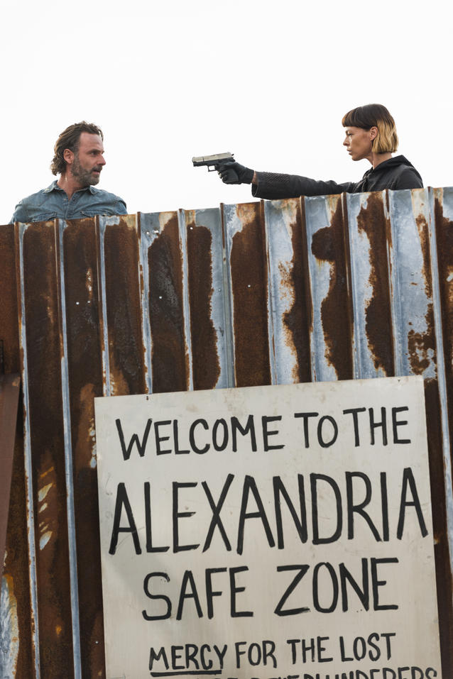 Andrew Lincoln/Rick, Pollyanna McIntosh/Jadis - The Walking Dead, Staffel 7, Folge 16