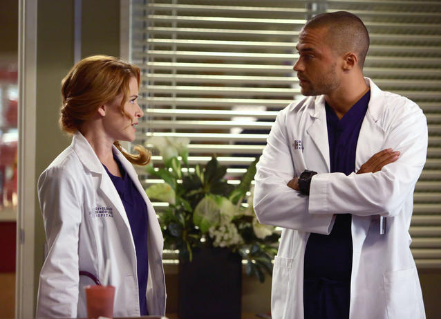 """Grey's Anatomy"": Jesse Williams als Jackson Avery & Sarah Drew als April Kepner"