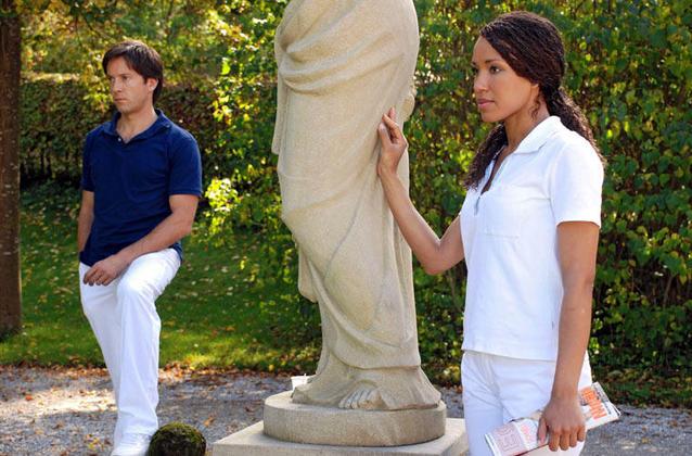 """""""Sturm der Liebe"""": Samia (Dominique Siassia) und Gregor (Christof Arnold) - Staffel 3"""
