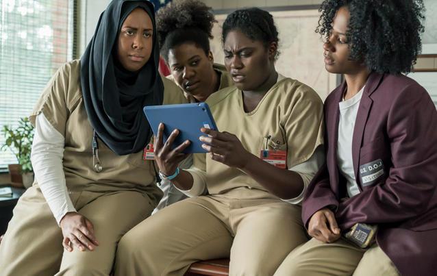 Tasty (Danielle Brooks, 2. v. rechts) muss den Verlust Pousseys verkraften. Foto: Netflix