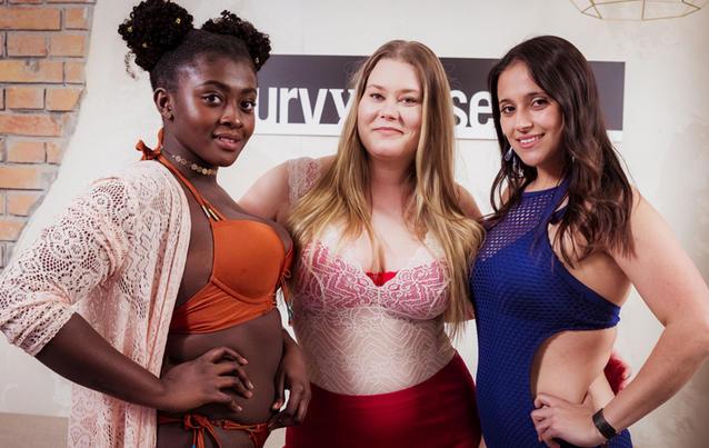 """Endurance, Nicole und Diana (von links) treten bei """" Curvy Supermodel"""" an. Foto: RTL2"""