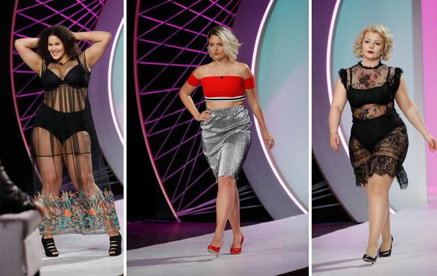 Curvy Supermodel: Samira, Gina und Zoey (von links) sind Kandidatinnen. Foto: RTL2