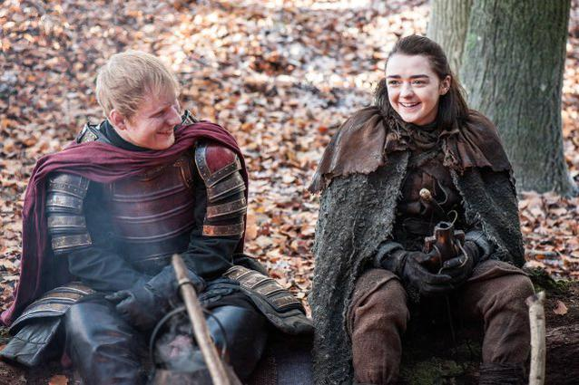 Game of Thrones Ed Sheeran Maise Williams