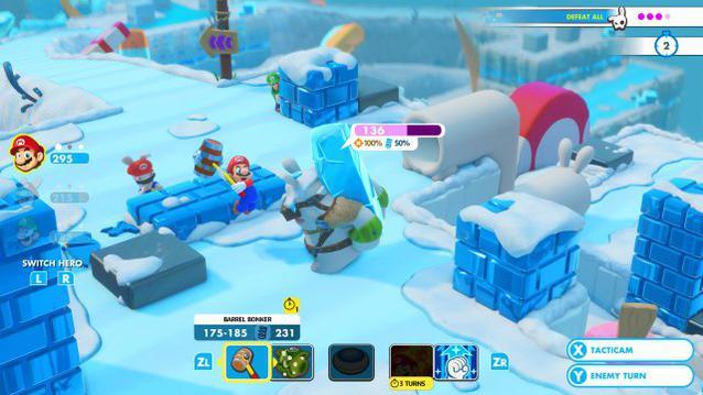 Mario Rabbids Snow Area