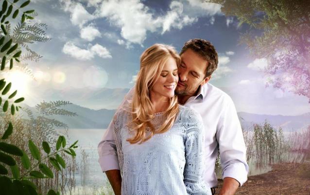 """Larissa Marolt und Dieter Bach im """"Sturm der Liebe""""-Vorspann"""