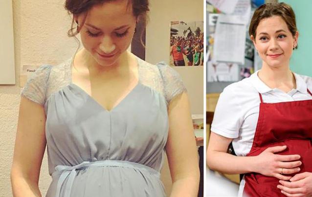 """Christin Balogh kam viel Lob für das Baby-Drama bei """"Sturm der Liebe""""."""