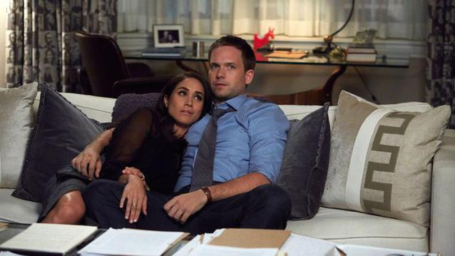 Rachel Mike Suits Meghan Markle Patrick J Adams