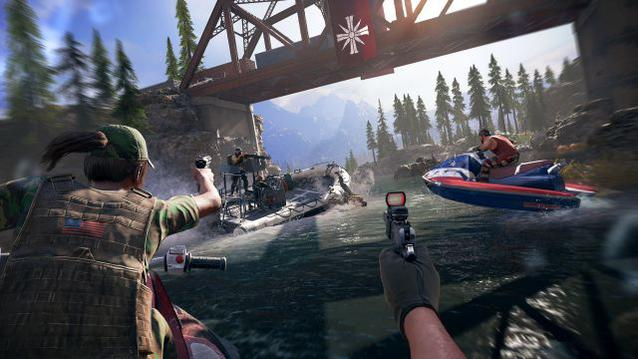 Far Cry 5 Boat Action