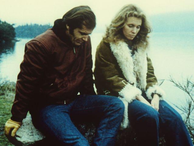 """Susan Anspach und Jack Nicholson im Film """"Five Easy Pieces - Ein Mann sucht sich selbst"""""""