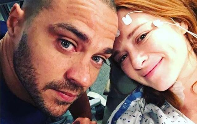 Sarah Drew und Jesse Williams Greys Anatomy