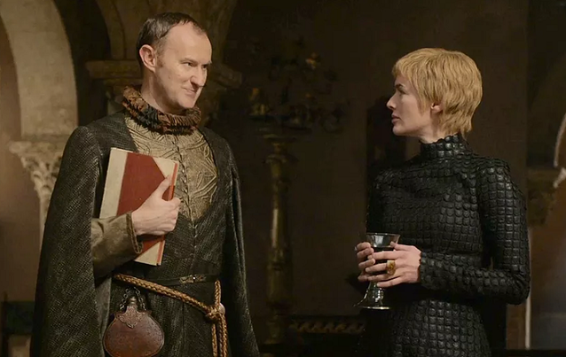 """Game of Thrones"": Eiserne Bank/Tycho Nestoris (Mark Gatiss) Cersei Lannister (Lena Headey)"