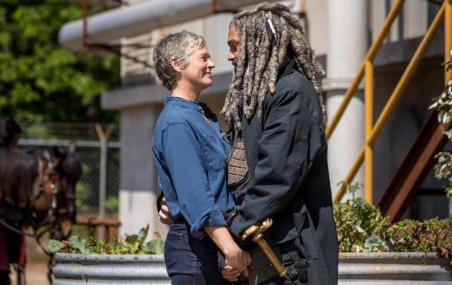 "Carol und Ezekiel in ""The Walking Dead"" - Staffel 9"