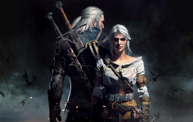 "Geralt und Ciri in ""The Witcher"""