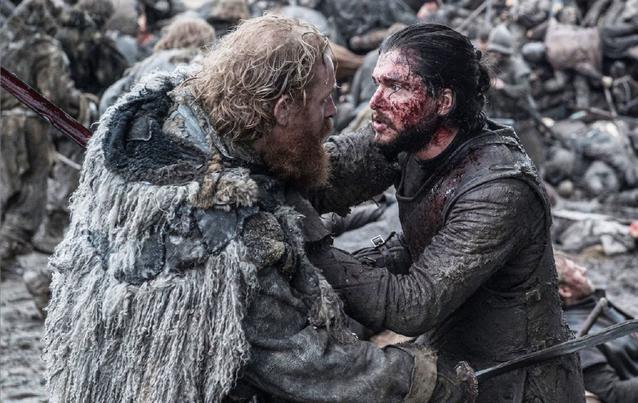 """Game of Thrones"" GOT ""Battle of Bastards"" Jon Snow (Kit Harington) und Tormund (Kristofer Hivju)"