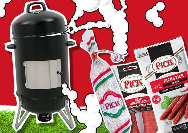 Gewinnt eines von zwei Pick Salamipaketen mit BBQ Smoker!